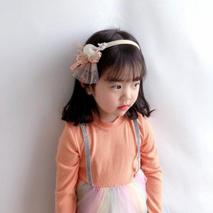 Sweet Cute Tassel Lace Children's Headband with Swan Bow Hairbands for Girl Fashion Hair Accessories