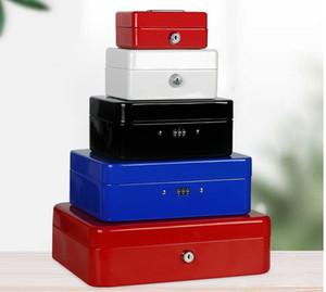Мини Портативный Box Блокировка пароля Организация хранения коробки ID Jewelry Изменить Наличный металлический ящик с многоуровневого Tray безопасности
