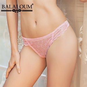 BALALOUM Frauen Sexy Lace Floral aushöhlen G-String Höschen Seamless T Zurück Thongs Transparent Female Damen-Unterwäsche-Wäsche