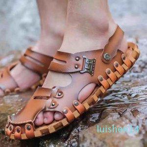 Homens Mulheres Sandálias Sapatos Deslize Summer Fashion Ampla Plano Slippery Sandals Slipper falhanço shoe10 P13 l14