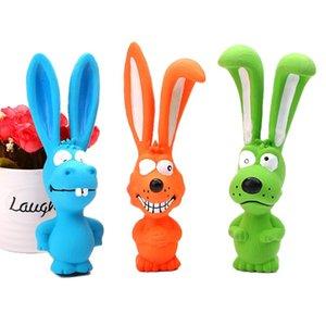 Dogs Chew Training Toy Pet Latex Squeak Toys Rabbit Long Ears Animal Dental Care Pet Supplies 4 1sj UU