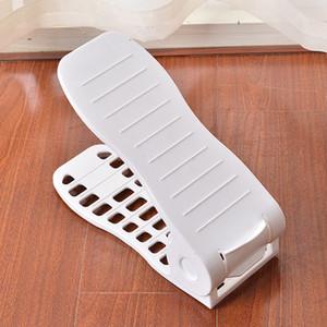 Vendita calda uso della famiglia a doppio strato integrato di scarpe regolabile Rack semplici di plastica porta scarpe Pure Shoes colori vassoio portaoggetti DH0077