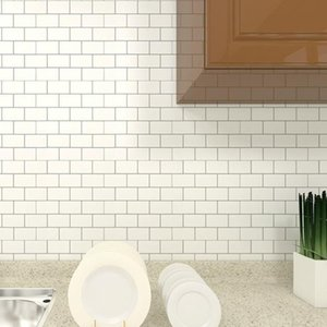 Mosaico de mármore casca e telha de parede auto adesiva backsplash diy casa de banho casa casa decalque lustroso adesivo vinil 3d