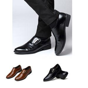 Luxury Men Wedding Shoes Leather Elegant Business Shoes Mens Dress Shoes for Men 2020 Zapatos Plateado Hombre Schoenen Mannen