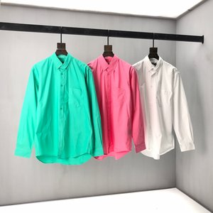 New long sleeve shirt for spring 2020 Original hardware mold opening details perfect high version in stock 205