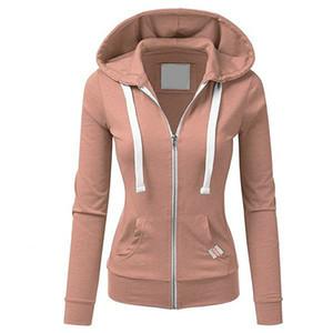 Oro Catalpa - forma a su cuerpo chica de moda deportiva con cremallera mujeres encapuchadas sudaderas sudadera presente chica T200722