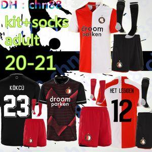 Taille: S-3XL Kit adulte + chaussettes Feyenoord 20 21 Jersey de football 2020 2020 2021 V.Persie Larsson 19 Berghuis 10 Vilhena 9 Shirt Jersey Jergensen