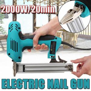 Doersupp 10-30mm Elektrische Gerade Nail-Gun Heavy-Duty-Holzbearbeitungswerkzeug Elektrischer Staple Nagel 220V 2000W j4pY #