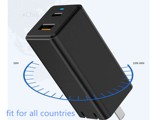 GaN PD 3.0 Fast USB Charger For iPhone 11 Pro Max Support AFC FCP SCP QC 3.0 For Samsung S10 Plus 65W Quick USB Charger