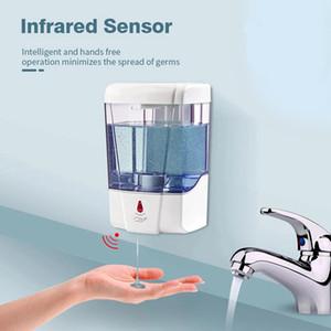 700ml Automatic Soap Dispenser USB Touchless Smart Sensor Bathroom Liquid Soap Dispenser Handsfree Touchless Sanitizer Dispenser IIIA190