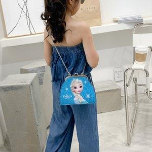 New children's Messenger diagonal fashion cartoon shoulder bag girl's cute shoulder snow pearl bag