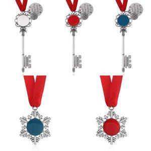 Santa Claus Key Christmas Magic Santa Claus Key Pendant Ornaments Monogram Magic Halloween Xmas Snowflake Gifts