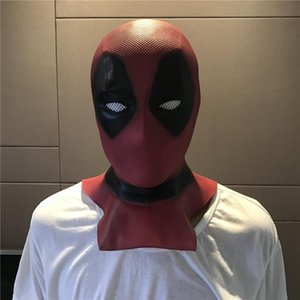 Latex Vollvisierhelm Deadpool Wade Winston Wilson-Partei-Kostüm Masken Adult Halloween Lustige Requisiten Film Deadpool Cosplay Maske