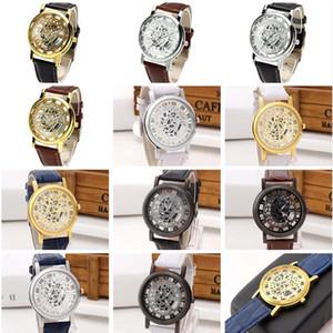 Yeni varış moda iş mens saatler güç rezervi izle GTWH6, Kuvars Bilek içi boş çevirme kayışı 6 adet çok mix renk saatler saatler