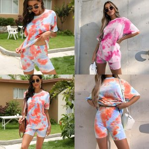 2020 New Explosion Models Women'S Movement Of Printing Tight Shorts Suit Skinny Sports Letter Print Shorts Suit Plus Size Fashion Su#800