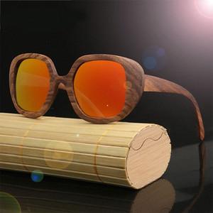 2020 Marca Designer óculos de sol de madeira da zebra para homens e mulheres de tamanho grande polarizada óculos de sol elétrica óculos de sol Fastrack Sunglasses RZrB #