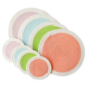filo di cotone ispessita tessuto pad pasto, rilievo dell'isolamento termico, pad pasto Nordic, anti rilievo caldo