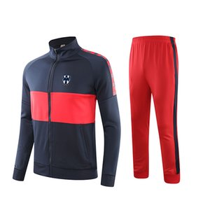 Monterrey Football Club Soccer Casual Tracksuits Polyester Training Sportswear Fitness Running Set Jogging Suit for Men
