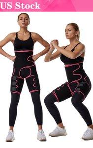 США Stock! Свободный корабль Женщины неопрена для похудения Пояс Пот тела Leg Shaper высокой талией тренер Жир пояса Бедро триммер для тела Shaper