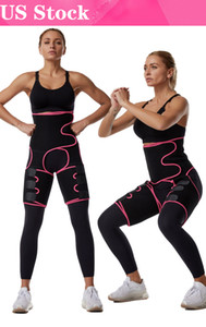 US Stock!Free Ship Women Neoprene Slimming Belt Sweat Body Leg Shaper High Waist Trainer Fat Belt Thigh Trimmer Body Shaper