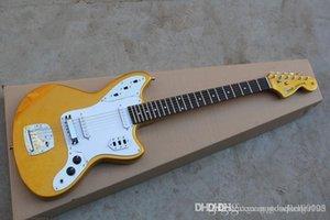 أعلى جودة المصنع الغيتار الذهبي JAGUAR مخصص للتسوق الغيتار الكهربائي في سوق الأسهم