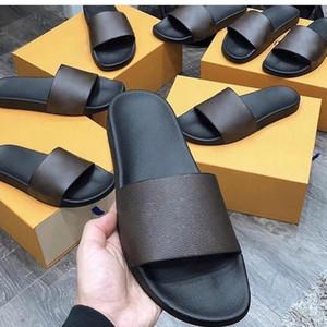 Alta calidad MULA DE COSTA Hombres Mujeres Zapatos Sandalias de diapositivas de diseño de moda de verano Slide plano ancho resbaladizo grueso de las sandalias del deslizador de las chancletas