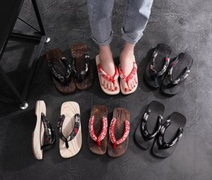 Geta Clogs Men Japanese Style Kimono Round Toe Shoes Anime Cosplay Traditional Wooden Flip Flops Oriental Sandals Sauna Indoor Slipper