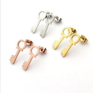 Hollow key Earrings Gold Earrings