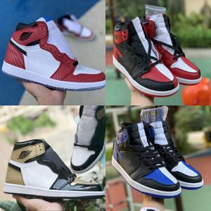 2020High 1 OG Travis Scotts X Hommes Basketball Chaussures Turbo Origine Vert histoire Gs NRG X Union des femmes Retroes de Unc bleu clair blanc de Chaussures Bleu