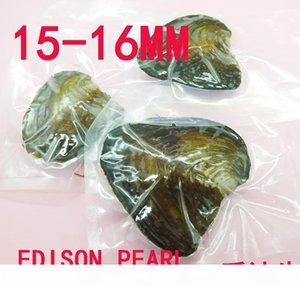 3pcs gran cantidad de ostras Monster 15-16mm de envasado al vacío Edison perla de la ostra, tiene uno Edison perla en cada ostra,