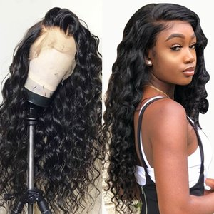 Loose Wave Curly Glueless Lace Front Human Hair Wigs with Baby Hair Brazilian Full Lace Wigs for black Women