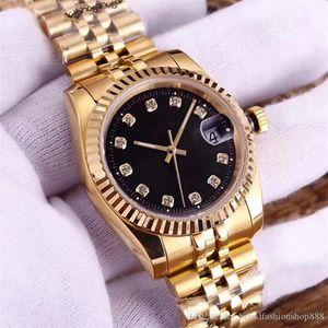 Aşıklar Saatler elmas izle otomatik saatı altın bayanlar çift seyretmek moda orologio di lusso adam kendini rüzgar hareketi kadınları mens