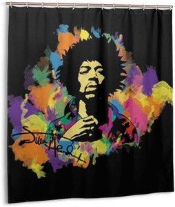 GVV Baño Decoración cortina de ducha de Jimi Hendrix Durable Los aficionados de tela impermeable baño cortina de 66x72 (168cmX183cm)