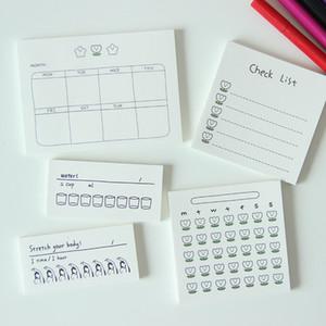 50 Blatt Programmierte Aufnahme Notebook Concise Planer Aufkleber Handkonto Hinweis Tagebuch Schüler-Plan-Briefpapier
