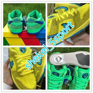 2020 HOT New Grateful Dead x SB Dunk Low Yellow green Bear Designer Shoes Blue Fury Deep Royal Skateboarding Sneakers Come CJ5378-700