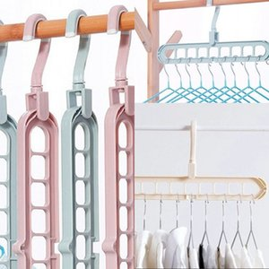 Solid Color Multifunctional Clothes Hanger Folding Storage Stand Rotation Rack Antiskid Drying Closet Organizer Accessories 1 2wh B2