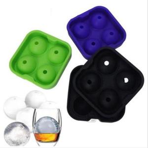 Make Ice Maker Mold большого диаметра Силикон Big Ice Ice Мембрана Шаровой Mold партии Кирпич Круглый Mold барные аксессуары DHA289