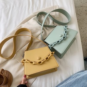 Thick Chain Design Small PU Leather Crossbody Bags For Women 2020 Female Shoulder Messenger Bag Ladies Handbags