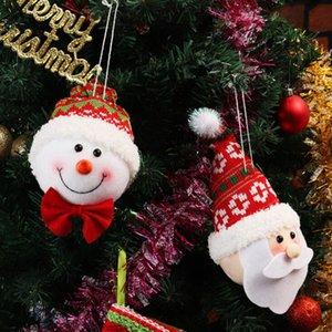 Noel Baba Noel kolye Üç boyutlu Kardan adam Dikmeler Yılbaşı Ağacı Dekorasyon Bırak Ornaments- # Asma