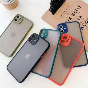 Matte Soft TPU Funda para iPhone 12 Mini 11 Pro MAX X XR XS 8 7 6 PLUS Cámara Protección de la cámara