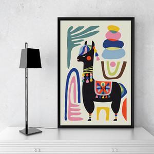 Llama Poster Print Alpaca Sheep Home Inspirational Wall Art Canvas Painting Mid Century Wall Art Nursery Prints Modern Decor