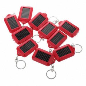 Mini energia solare 10 volte ricaricabile 3LED Keychain Light anello della torcia nuovo colore rosso ambra lampeggiante luci della bici torcia dal Miaoshakuai, $ 19,5 Fyli #