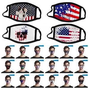 Amerikan Bayrağı Maske Amerikan Bağımsızlık Günü toz geçirmez Moda Baskı Buz İpek Kumaş Koruyucu Maske