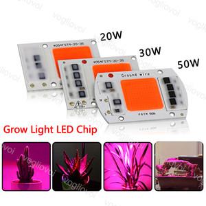 Miçangas claras 110V 220V 20W 30W 50W Chip com o escudo completo do quadrado do espectro IC para projetores exteriores DIY do projector Highbay Spotlight EUB