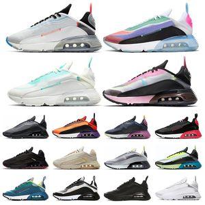 nike air max 2090 Running Shoes para as Mulheres Homens Pure Platinum oreo poeira fóton Duck camo preto branco dos homens treinador desportivo tênis de tamanho 36-45