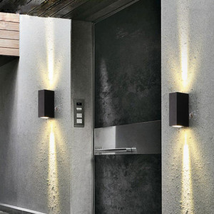Современные светодиодные лампы настенные для дома IP65 Алюминий Up Down Light Led Открытый настенный светильник 6W Крытый ванной Сад Крыльцо лампы ZBD0020