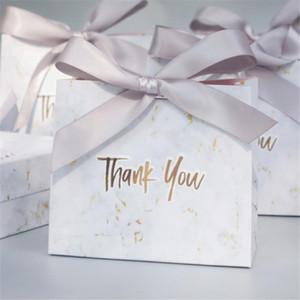50pcs Danke für den Druck der Box Geschenk-Dekoration Ereignis Pink Party Chocolate Box Verpackung / Hochzeit Hochzeit Süßigkeit