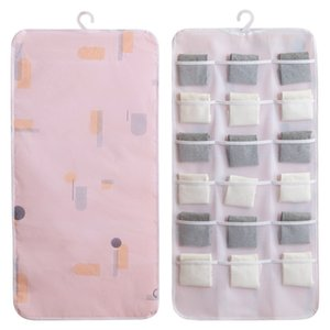 Non-Woven Storage Bag Underwear Socks Hanging Storage Bag Multi-Grid Storage Bag