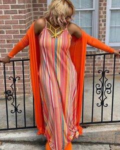 Strap Sexy Sleeveless Frauen-Kleid beiläufige bequeme kühle Damen-Bekleidung Frauen Sommer Striped Drucken Kleider Spaghetti