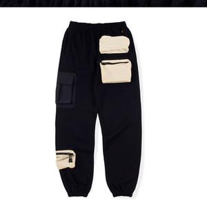 Nueva manera del diseñador pantalones largos Multi bolsillo del pantalón de algodón para hombre de Scott Travis Festival del globo del mundo los pantalones ocasionales de los deportes, tamaño s-xl